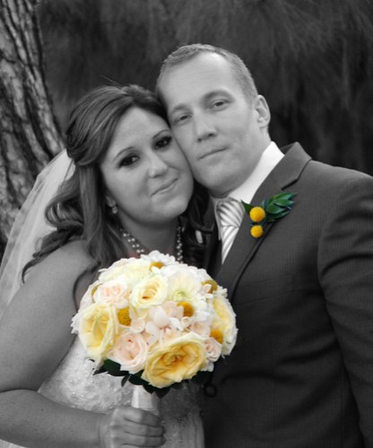 Daniel & Geri b&w Color Bouquet