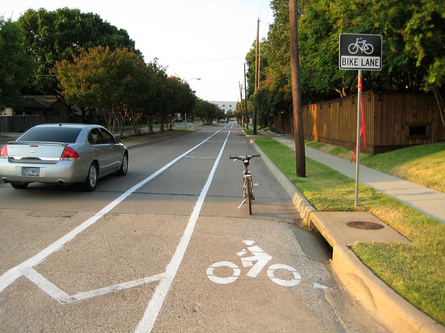 Bike Lane With Buffer