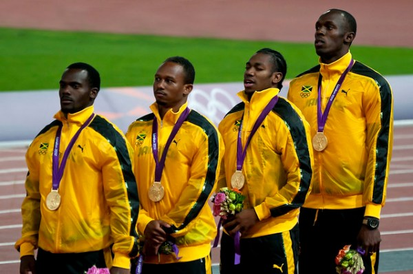 London 2012 - Jamaican 4x100m relay team | Flickr - Photo ...