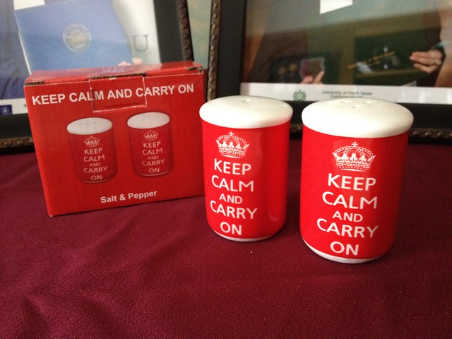 Keep Calm and Carry On Salt & Pepper Shakers