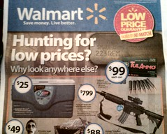"Walmart gun control (""hunting for low prices"")"
