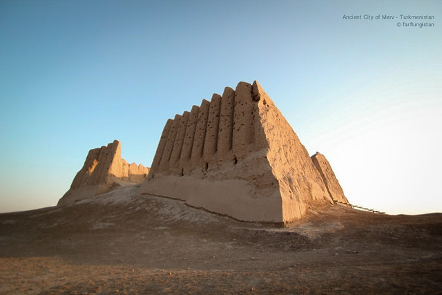 The Oldest Fortress of the Ancient City of Merv in the Karakum Desert of Turkmenistan
