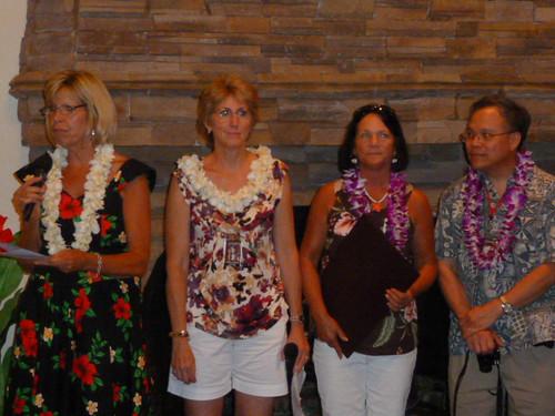 GHS 40th Reunion - Kathy Rust, Carol Cross, Kim Halloran, Ed Fong