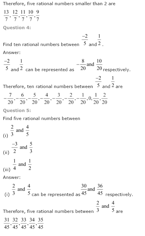 NCERT Solutions For Class 8th Maths Ch 1 Rational Numbers PDF Download Free 2018-19