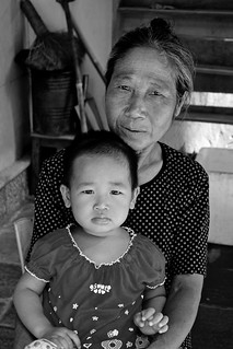 A grandmother and her grandchild
