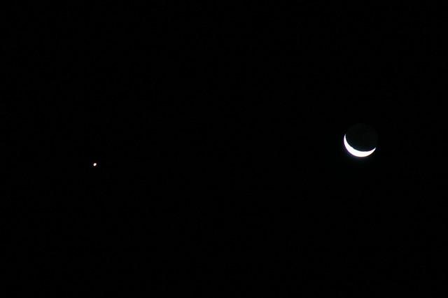 Waning Moon and Venus