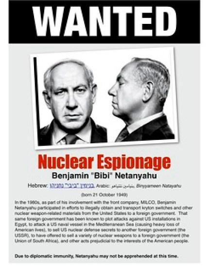 Netanyahu wanted poster