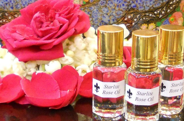 Pure Rose Oil - Absolute Perfume Oil - All Natural Aromatherapy Essential Rose Oil ~ Bridal Perfume