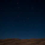 Sand dunes under the stars