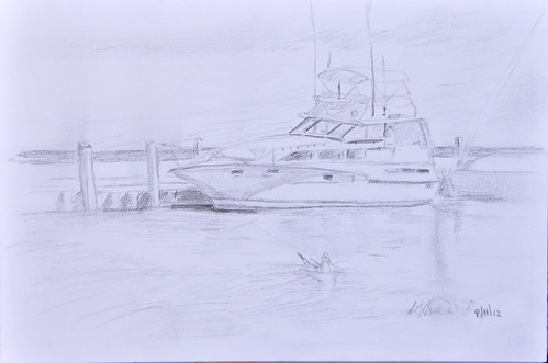 Sketch City Marina by photographerpainterprintmaker