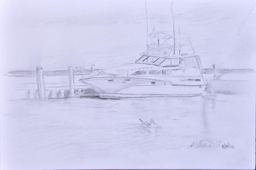 Sketch City Marina by photographerpainterprintmaker