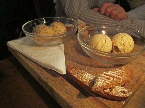 Dulce de Leche Stracciatella and Banana and Burnt Butter Ice Cream