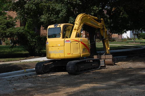 Construction equipment parked