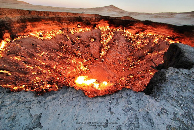 Darvaza Gas Crater:Karakum Desert:Turkmenistan