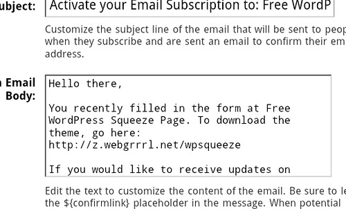 FeedBurner customised email