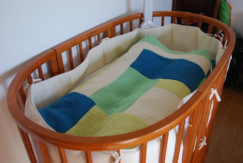 Log-cabin baby blanket