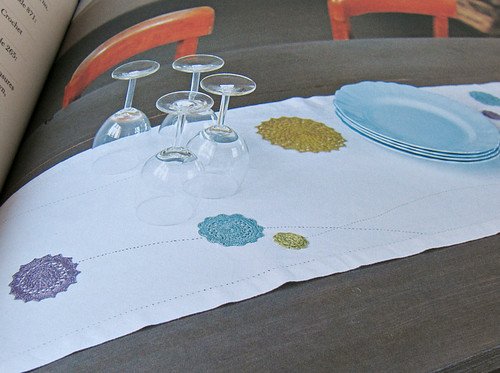 Motifs decorating a table runner