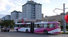 Refurbished trolley bus in Pyongyang