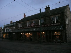 Beamish town at night