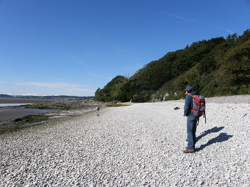 Steep shingle beach, Far Arnside