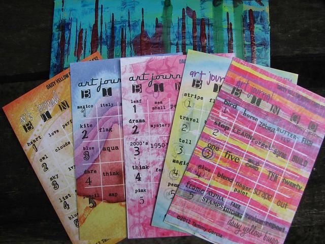 art journal bingo