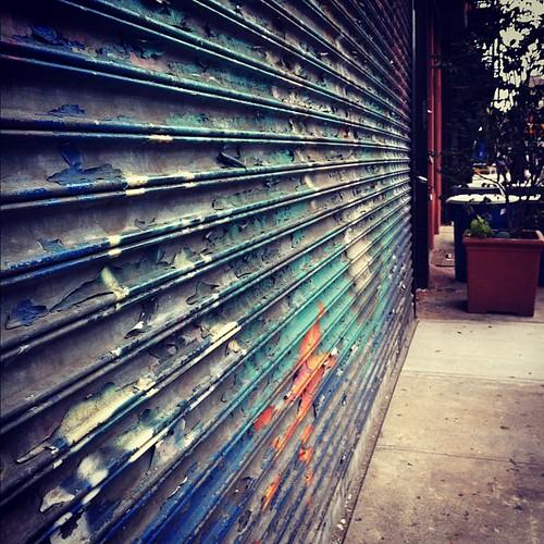 peeling paint in the East Village
