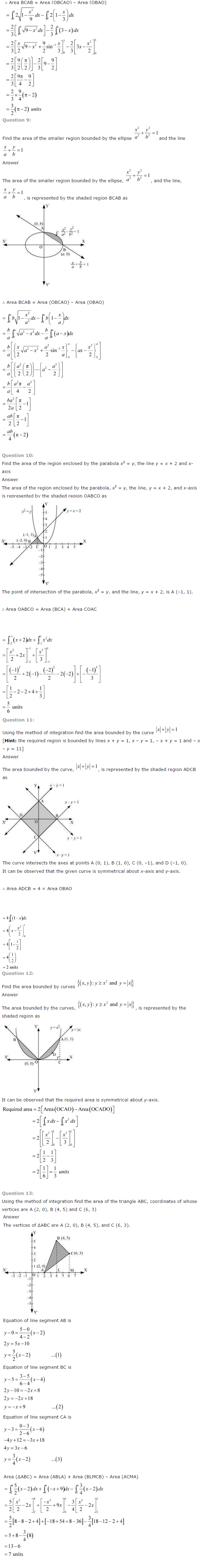 NCERT Solutions for Class 12 Maths Chapter 8 Application of Integrals ex 8.6