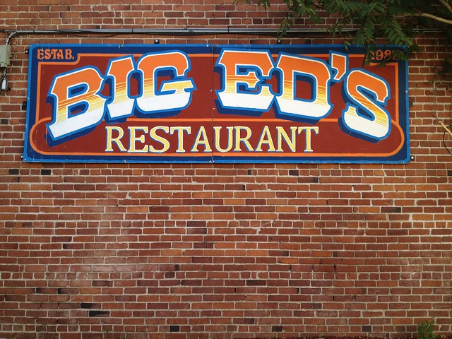 Big Ed's Restaurant sign