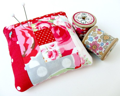 Shabby chic pincushion 2