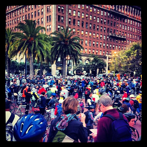 a few people here for 20th anniversary of critical mass