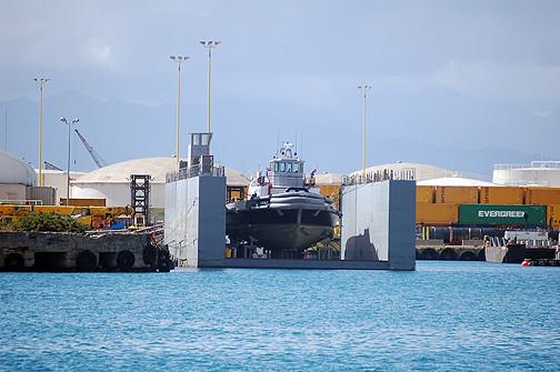 Tiger 7 in dry dock