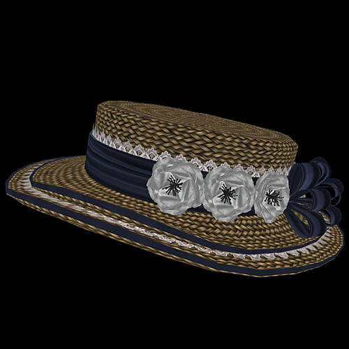 Clarissa Hat - Navy and White - copy/mod/resize