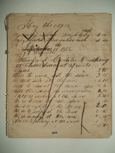 Henry Hildabolt's Day Book, May 1852