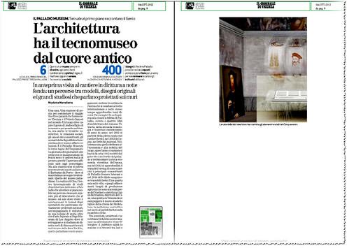 ITALIA ARCHITETTURA e VENEZIA: IL PALLADIO MUSEUM - Sei sale al primo piano raccontano il Genio - 400 I designi di Andrea Palladio. IL GIORNALE DI VENEZIA (04/10/2012), p. 8. by Martin G. Conde
