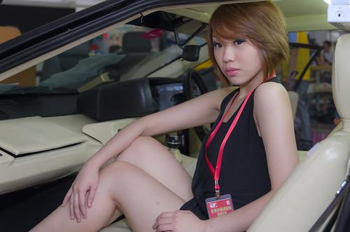 Promo Girl in a Lotus Espirit