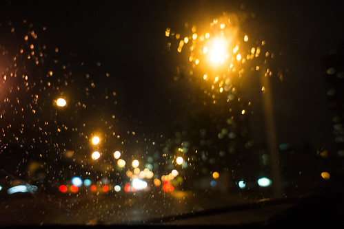 In a car, rain by Dan Nguyen @ New York City