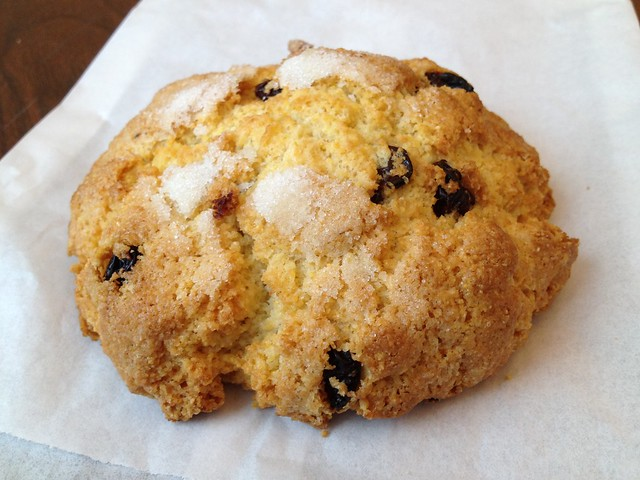 Cherry corn scone - Arizmendi Bakery