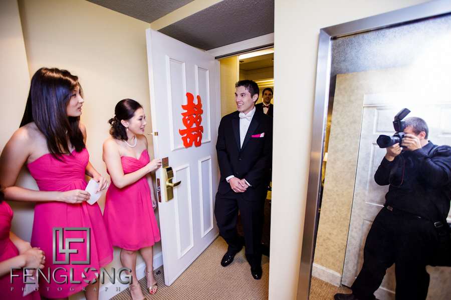 Behind the Scenes Mirror Shot | Amy & Michael's Wedding | Chateau Elan | Atlanta Wedding Photographer