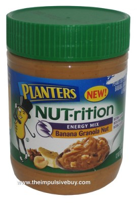 Planters NUT-rition Energy Mix Banana Granola Nut Peanut Butter