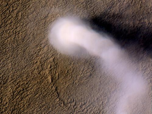 Remolinos de polvo en Marte