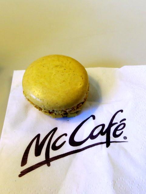 McCafe Barcelona- pistachio macaron €.75
