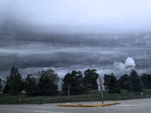 clouds turned from blue to grey as the rain rolled in