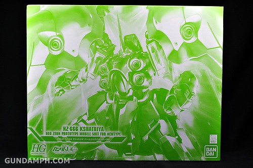 HGUC Kshatriya Pearl Clear (green) Binder Ver. Unboxing Pictures (1)