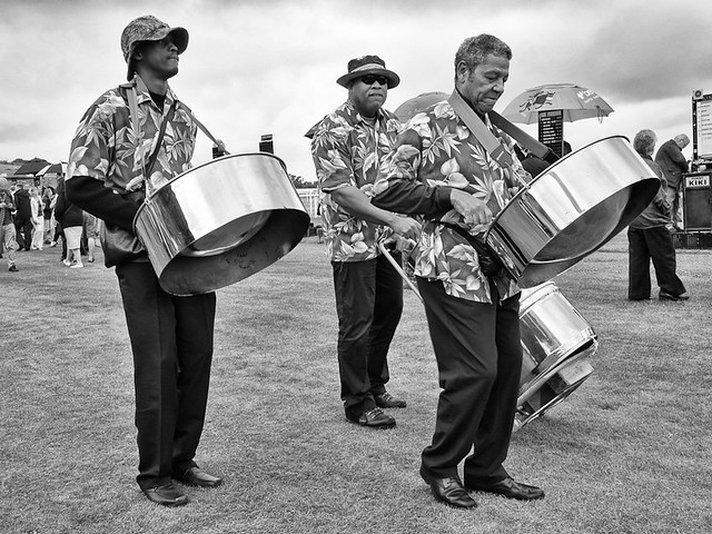 Caribbean band playing the drums