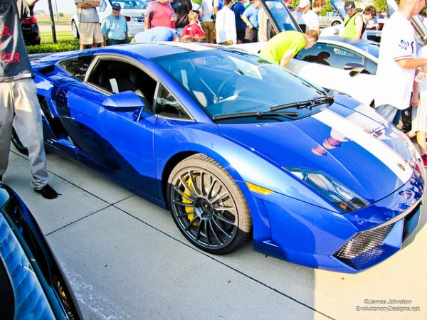 Blue Lamborghini Gallardo - Cars and Coffe Dallas Texas