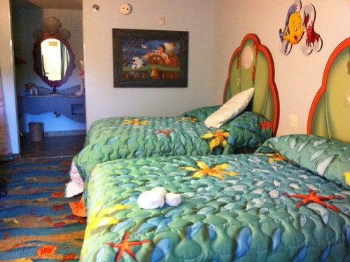 The Little Mermaid rooms at Disney's Art of Animation Resort
