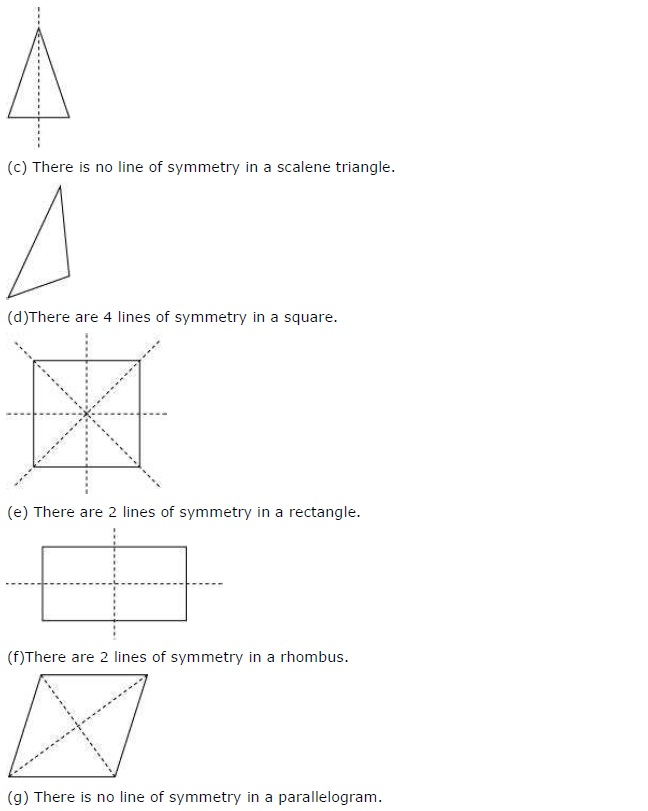 NCERT Solutions for Class 7 Maths Chapter 14 Symmetry Exercise 14.1