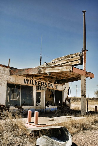 Wilkerson's abandoned store, Newkirk, NM, Route 66 USA. Copyright Jen Baker/Liberty Images; all rights reserved.
