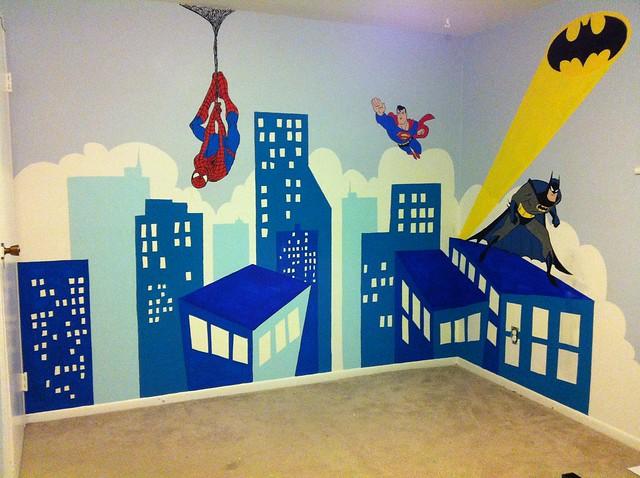 Superhero Mural Flickr Photo Sharing