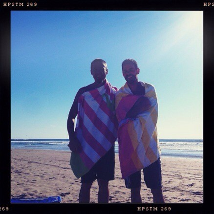 the boogie boarders in girly towels